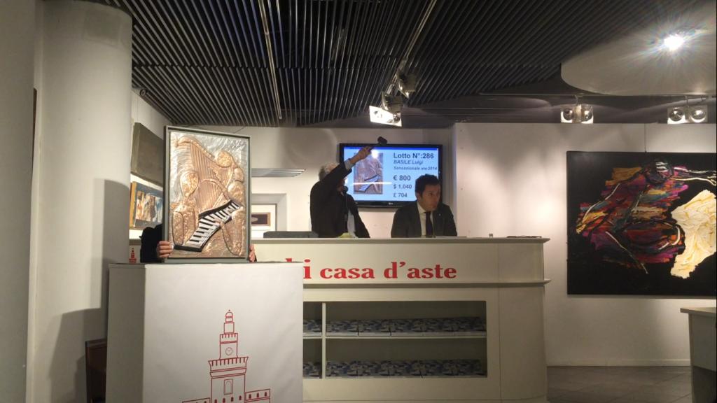 """Casa D'aste situata nel cuore di Milano, è stata battuta un'opera di Luigi Basile """"Sensazionale Melodie """""""
