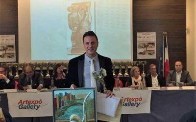 """Trofeo """"PALMA D'ORO PER L'ARTE"""", Luigi Basile è premiato a Monte Carlo"""