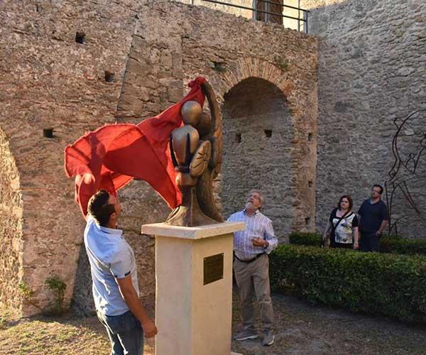 """Il 13 Agosto 2016 è stato inaugurato """"L'ANGELO e IL GUERRIERO"""" di Luigi Basile"""