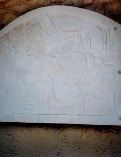 1° Mon. dedicato alla lavorazione dell'olio,pietra , Cruculi 2001