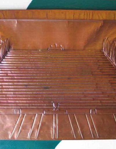 1 Il Sacrario sbalzo su rame sbalzato 42x62, 2009