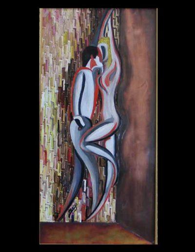 6 Amore mis 30x60 (olio su tavola con rame applicato) 2006