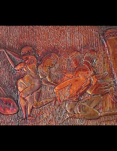 1_Il-Suono-dellArpa_sbalzo-su-rame-patinato-50x120-cm_2003