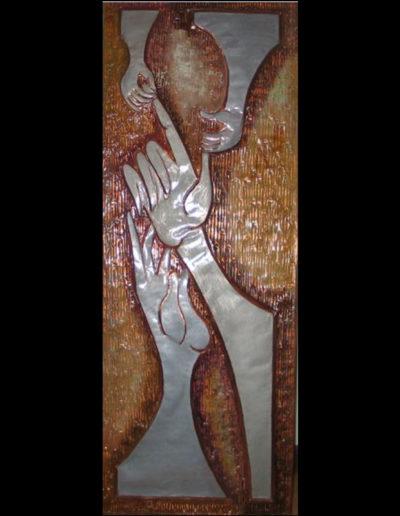 2_Il-Dono-mis-50x120-olio-su-rame-sbalzato-e-smalti-2007